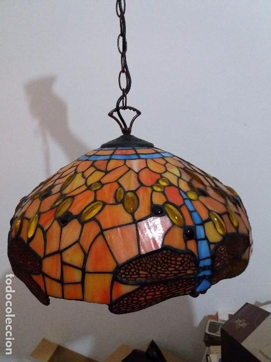 LAMPARA ESTILO TIFFANY (Vintage - Lámparas, Apliques, Candelabros y Faroles)