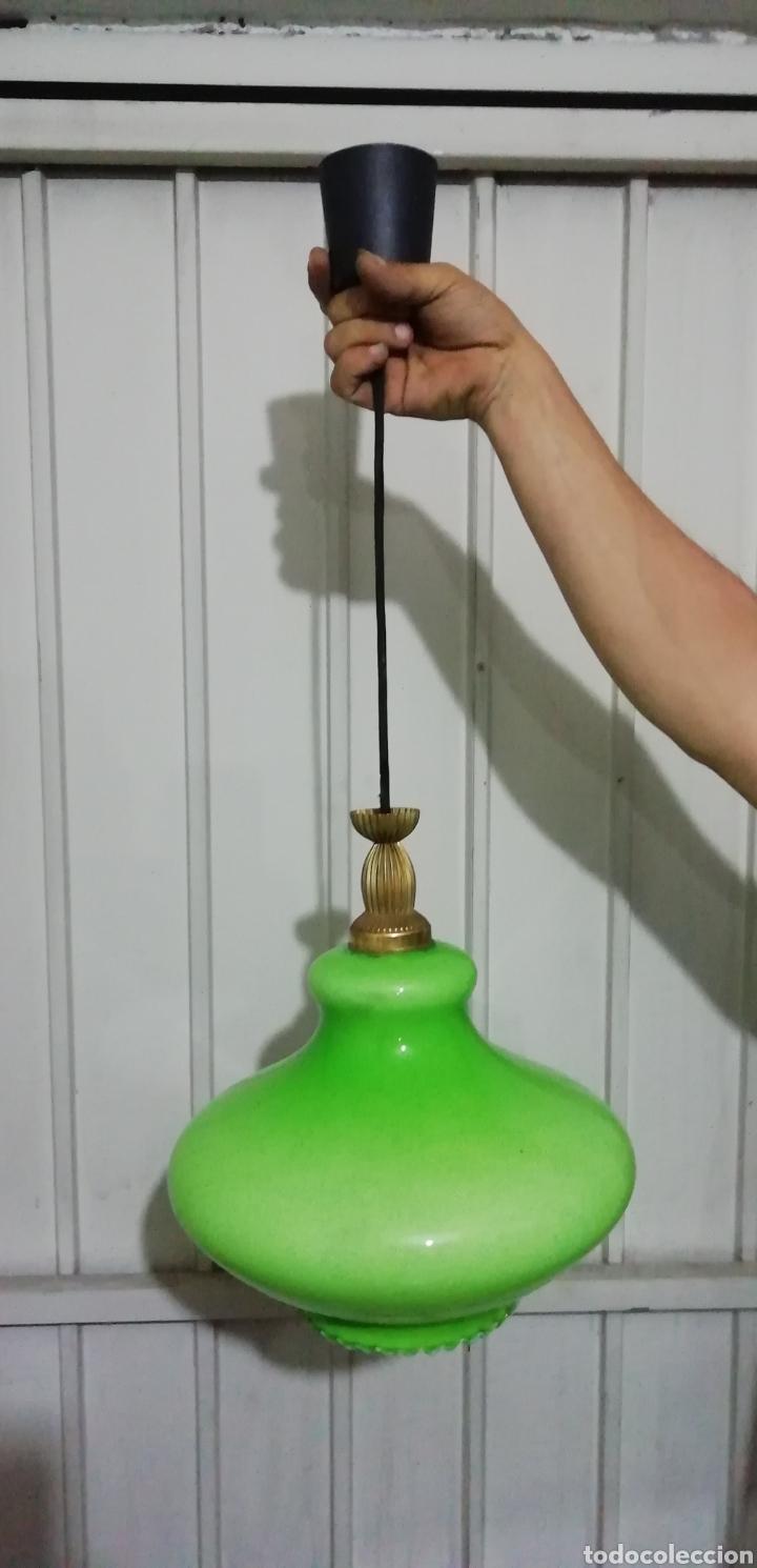 Vintage: Lámpara de Opalina - Foto 2 - 163526649