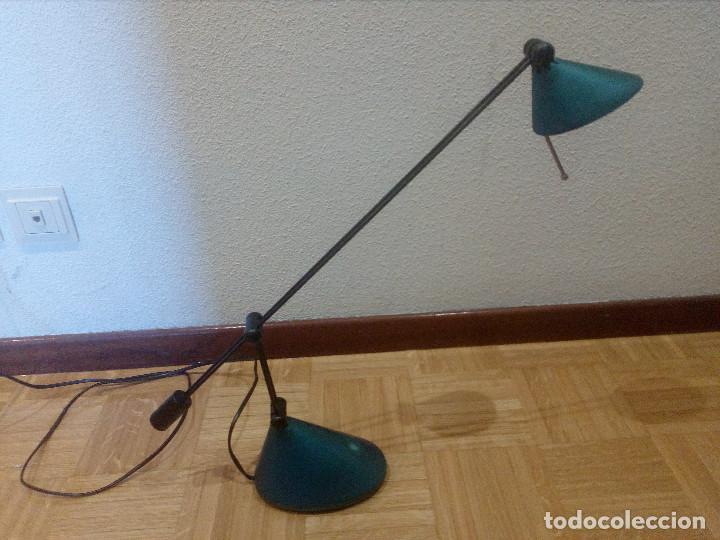 LAMPARA HALOGENO,FLEXO DE ESTUDIO,BRAZO REGULABLE. (Vintage - Lámparas, Apliques, Candelabros y Faroles)