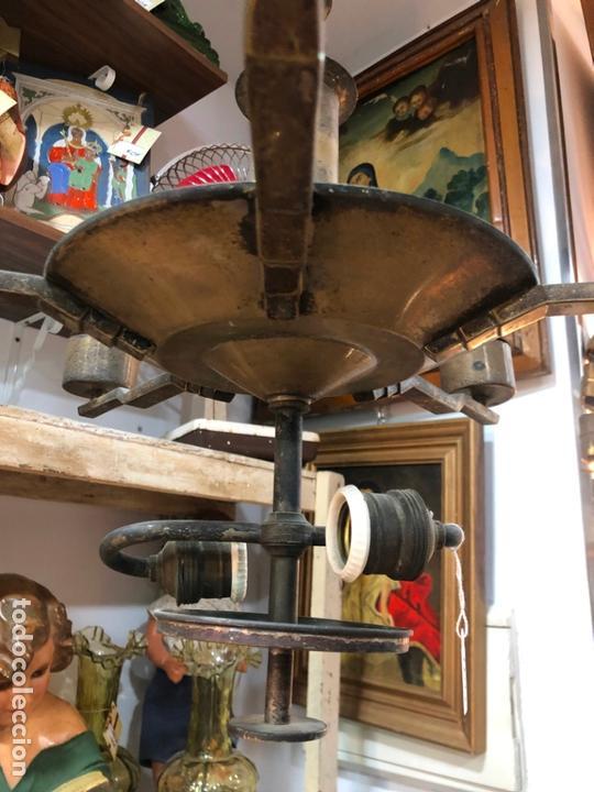 Vintage: ANTIGUA LAMPARA ART DECO - MEDIDA 117X67 CM - Foto 6 - 164196730