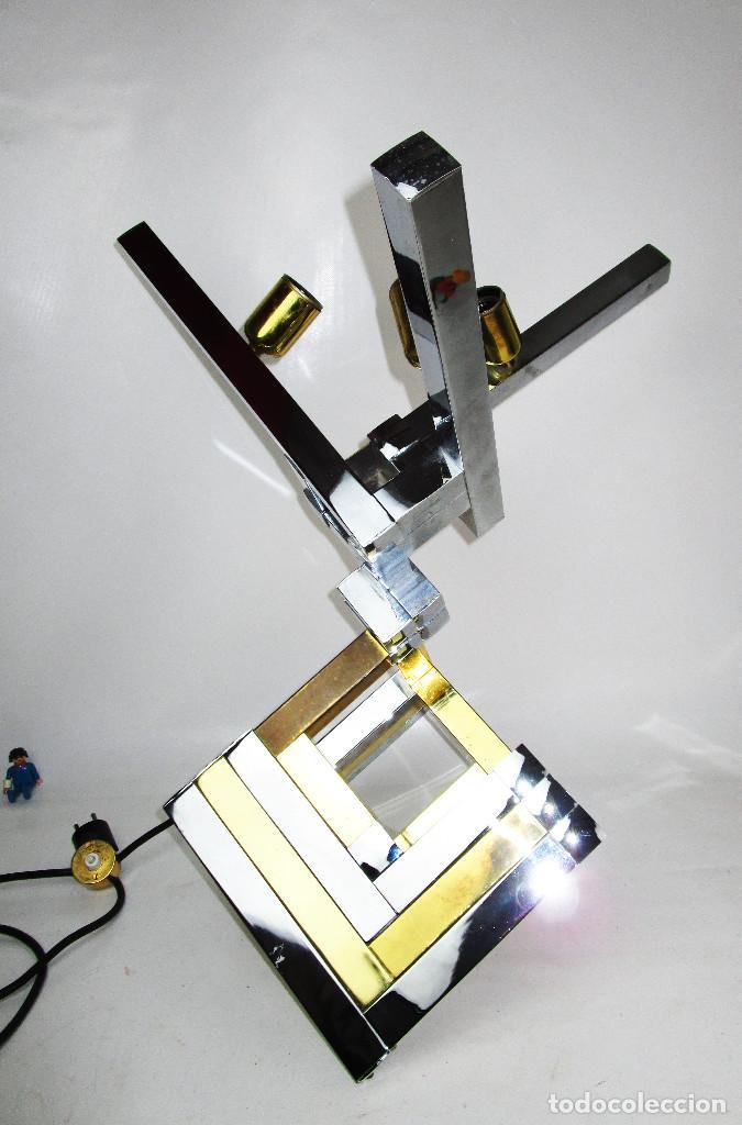 SUPER LAMPARA WILLY RIZZO GEOMETRICA , DE LAS MAS RARAS , LUMICA BARCELONA DISEÑO VINTAGE (Vintage - Lámparas, Apliques, Candelabros y Faroles)