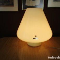 Vintage: ÚNICA LAMPARA DE VETRO MURANO - CRISTAL OPAL / 40 CM DE ALTURA - TODA DE UNA SOLA PIEZA. Lote 165088002