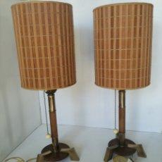 Vintage: PAREJA LAMPARAS MID CENTURY MODERN ESTILO ESCANDINAVO 1950/60S MESILLA MESITA NOCHE VINTAGE RETRO. Lote 165091938