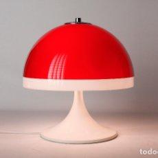 Vintage: LAMPARA SOBREMESA TRAMO SETA TULIP BLANCO ROJO JOAN ANTONI BLANC MIGUEL MILÁ SPACE AGE ESPAÑA 60S. Lote 165480962