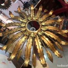 Vintage: PRECIOSA LAMPARA PLAFON DE SOL METALICO AÑOS 70 - MEDIDA 55 CM - VINTAGE. Lote 165501966