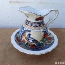 Vintage: JARRA Y PALANGANA PORCELANA ORIENTAL. Lote 166507762