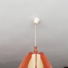 Vintage: ANTIGUA LAMPARA DE TECHO DE MADERA ESTILO NORDICO VINTAGE AÑOS 70. Lote 167062968