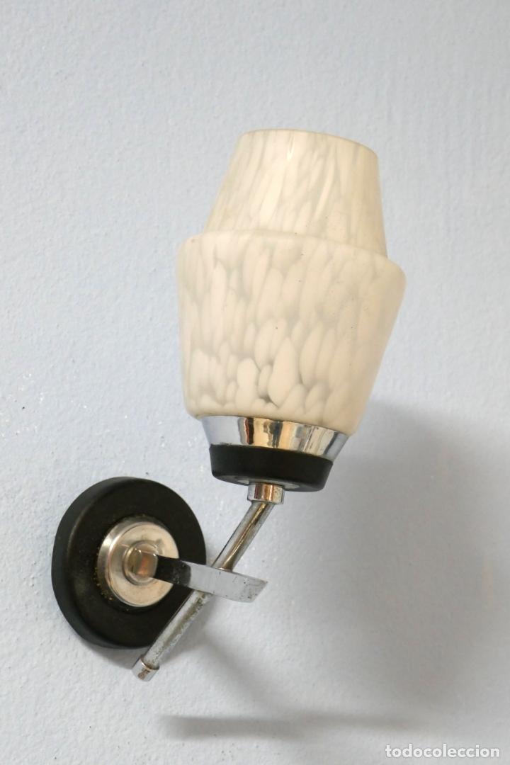 Vintage: Pareja apliques lámparas vintage años 50 60 Francia Mid Century Maison Arlus Lunel o similar - Foto 2 - 167516284