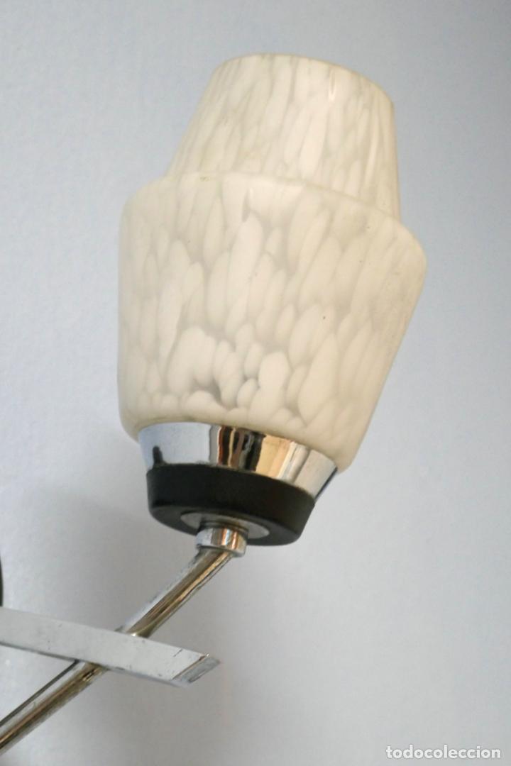 Vintage: Pareja apliques lámparas vintage años 50 60 Francia Mid Century Maison Arlus Lunel o similar - Foto 3 - 167516284