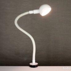 Vintage: LAMPARA FASE VINTAGE HEBI SERPIENTE FLEXO BLANCO RETRO SOBREMESA ESPAÑA 70S. Lote 167910604