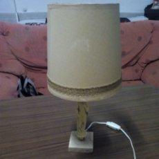 Vintage: LAMPARA DE NOCHE CON PEANA FIGURA ORIENTAL DE MARMOL AÑOS 60. Lote 167992904