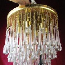 Vintage: BESTIAL LAMPARA PLAFON MITICA CASCADA GOTAS CRISTAL MURANO VENINI . Lote 167996532