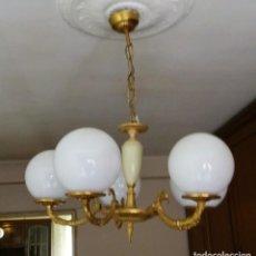 Vintage: LAMPARA DE TECHO DE 5 TULIPAS . Lote 168095352