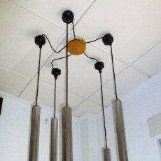 Vintage: LAMPARA DE TECHO,COLGANTE DE CASCADA.STAFF - SPACE.AÑOS 70.. Lote 168234764
