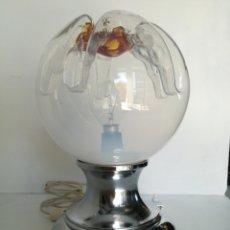 Vintage: LAMPARA VINTAGE SPACE AGE DISEÑO MAZZEGA MURANO 1960S/70S // ALIEN CROMADA SOBREMESA MID CENTURY. Lote 169201408