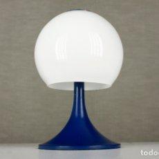 Vintage: LAMPARA SOBREMESA TRAMO JOAN ANTONI BLANC SETA TULIP AZUL CRISTAL VINTAGE RETRO ESPAÑA 60S. Lote 169283592