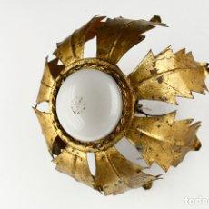 Vintage: SOL PLAFÓN APLIQUE VINTAGE RETRO PAN DE ORO LAMPARA TECHO PARED 60'S. Lote 169374988