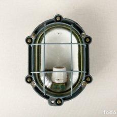 Vintage: FOCO ANTIGUO LAMPARA INDUSTRIAL VINTAGE APLIQUE ACERO ESPAÑA 60'S. Lote 169377176