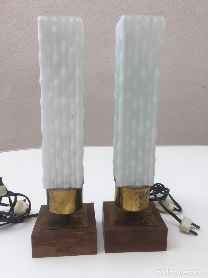 PAREJA LÁMPARAS MODERNISTAS. SOBREMESA. (Vintage - Lámparas, Apliques, Candelabros y Faroles)