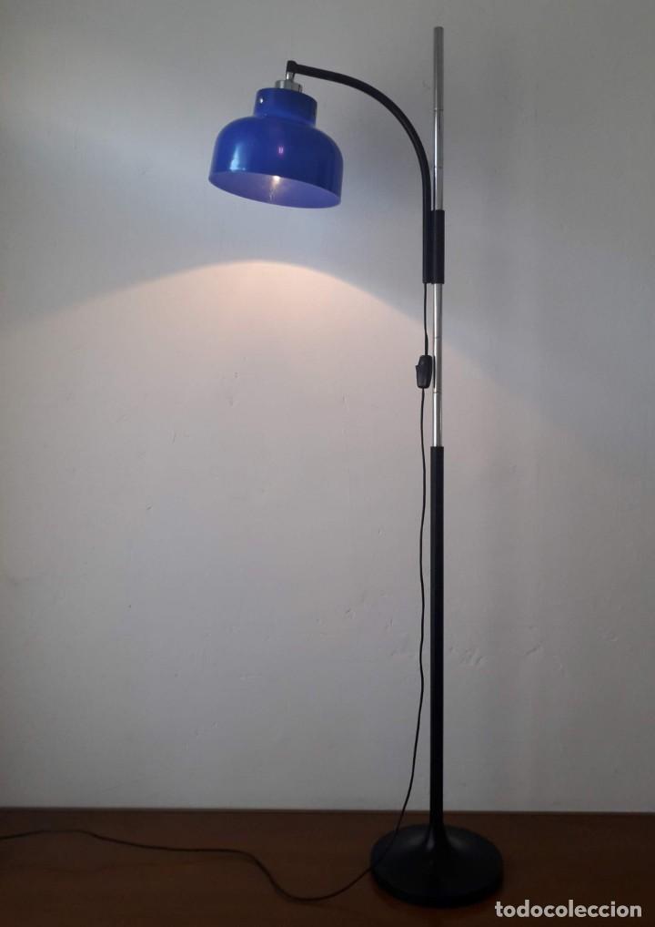 MAX BILL LAMPARA DE PIE MIGUEL MILA PARA TRAMO (Vintage - Lámparas, Apliques, Candelabros y Faroles)
