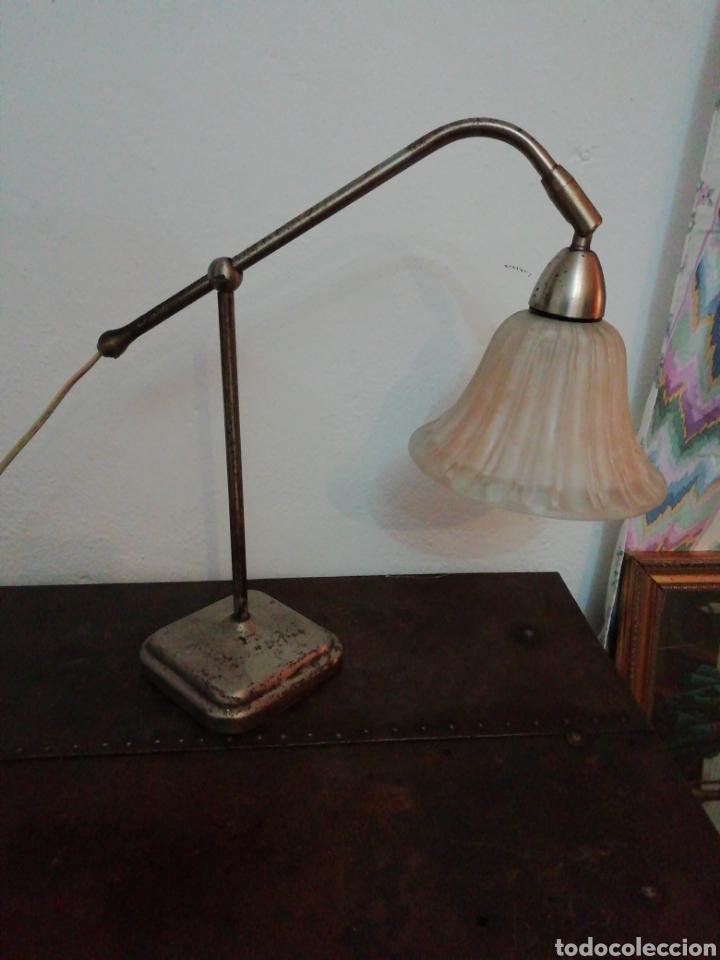 LÁMPARA DE SOBREMESA INDUSTRIAL (Vintage - Lámparas, Apliques, Candelabros y Faroles)