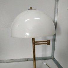 Vintage: FLEXO LAMPARA VINTAGE DE DESPACHO DE LOS 70 EN METAL Y TULIPA DE PVC GIRATORIA. Lote 170919610