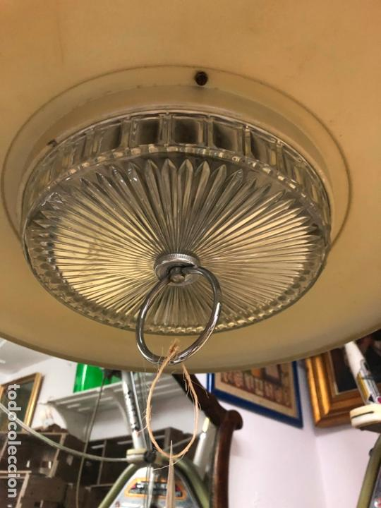 Vintage: PRECIOSA LAMPARA OVNI EN METAL CON TULIPA DE CRISTAL LABRADO AÑOS 70 - MEDIDA 65X45 CM - Foto 2 - 171341380