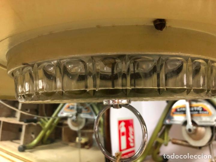 Vintage: PRECIOSA LAMPARA OVNI EN METAL CON TULIPA DE CRISTAL LABRADO AÑOS 70 - MEDIDA 65X45 CM - Foto 3 - 171341380