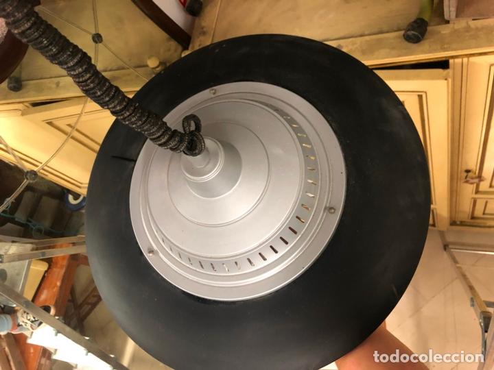 Vintage: PRECIOSA LAMPARA OVNI EN METAL CON TULIPA DE CRISTAL LABRADO AÑOS 70 - MEDIDA 65X45 CM - Foto 4 - 171341380