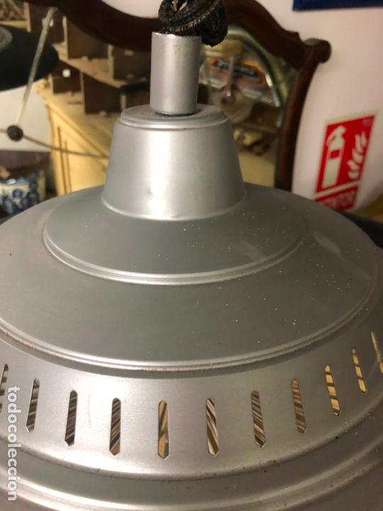 Vintage: PRECIOSA LAMPARA OVNI EN METAL CON TULIPA DE CRISTAL LABRADO AÑOS 70 - MEDIDA 65X45 CM - Foto 6 - 171341380