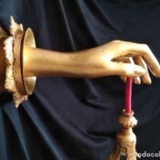 Vintage: TRES LAMPARAS DE MANOS DADA, RETRO GOTICA. Lote 171428452