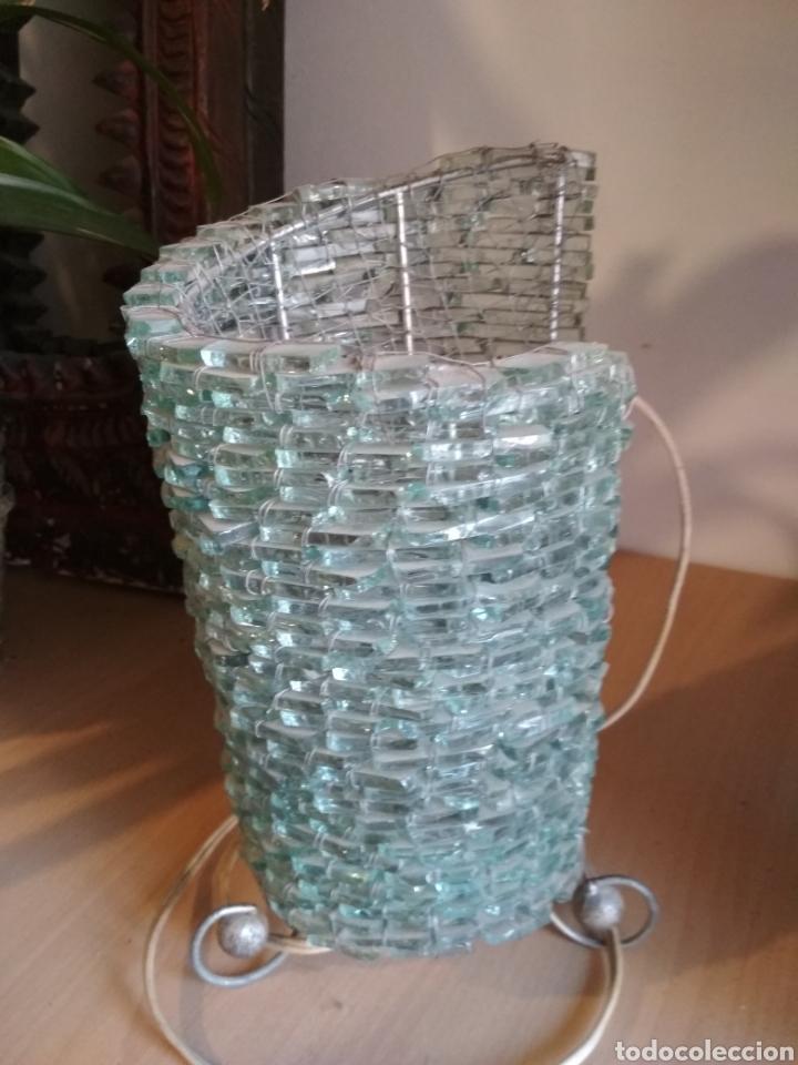 Vintage: Lámpara sobremesa cuentas cristal - Foto 2 - 172059610