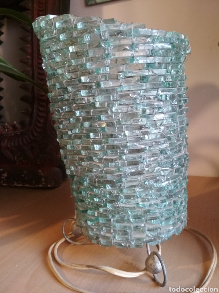 Vintage: Lámpara sobremesa cuentas cristal - Foto 3 - 172059610