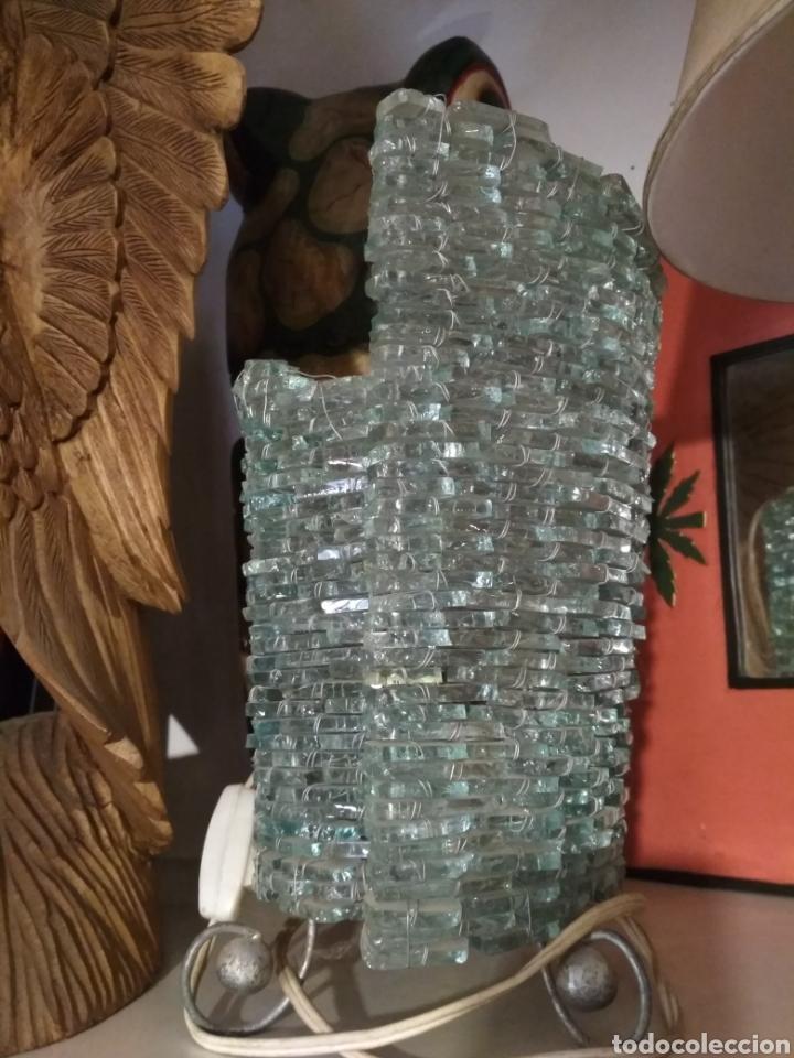 Vintage: Lámpara sobremesa cuentas cristal - Foto 4 - 172059610