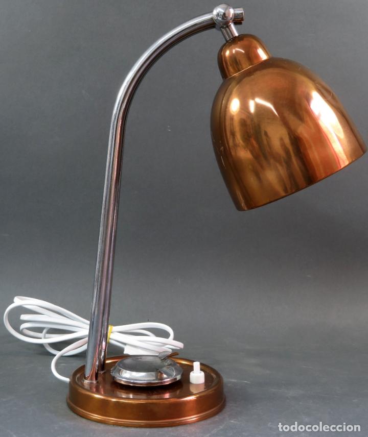 Vintage: Lámpara flexo de sobremesa con cenicero en latón graduable años 60 funciona - Foto 4 - 172060625