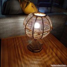 Vintage: LAMPARA DE RATAN / LAMPARA VINTAGE / LAMPARA. Lote 172374215