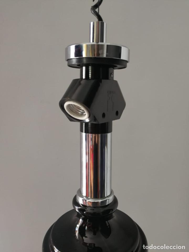 Vintage: Lámpara de techo colgante Lumica en cristal negro - Foto 4 - 172851822