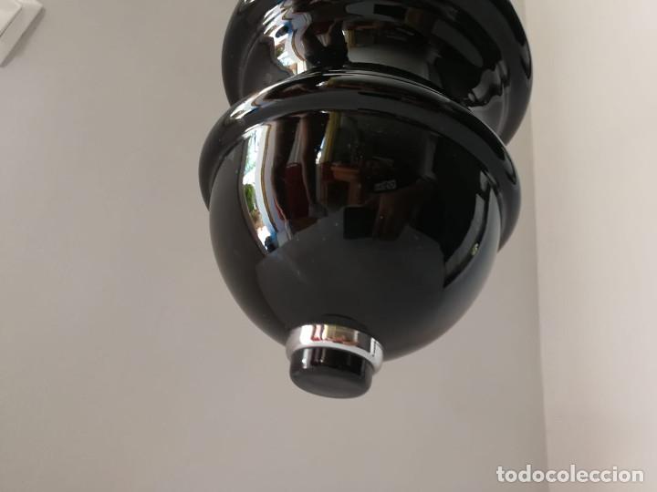 Vintage: Lámpara de techo colgante Lumica en cristal negro - Foto 11 - 172851822