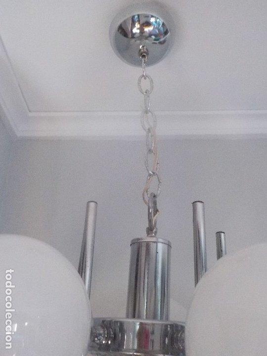 Vintage: lampara 5 globos, space age, años 60/70 - Foto 9 - 172883368