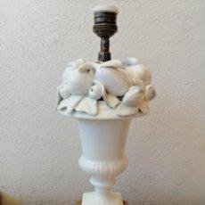 Vintage: LAMPARA VINTAGE ANTIGUA MANISES PORCELANA CERÁMICA FRUTAS. Lote 172918709