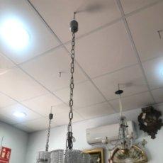 Vintage: FANTÁSTICA LAMPARA ART DECO DE CRISTAL - MEDIDA TULIPA 23X19 CM. Lote 173509160