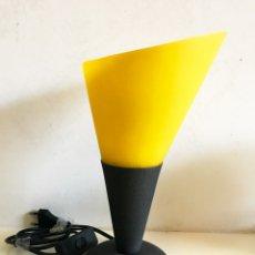 Vintage: LAMPARA ESTILO VINTANGE TULIPA CRISTAL AMARILLO.. Lote 174477235