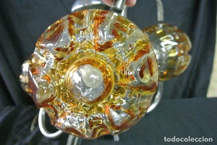 Vintage: Lampara. Space. Acero y cristal murano. Vintage - Foto 3 - 174531579
