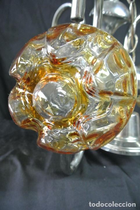 Vintage: Lampara. Space. Acero y cristal murano. Vintage - Foto 10 - 174531579