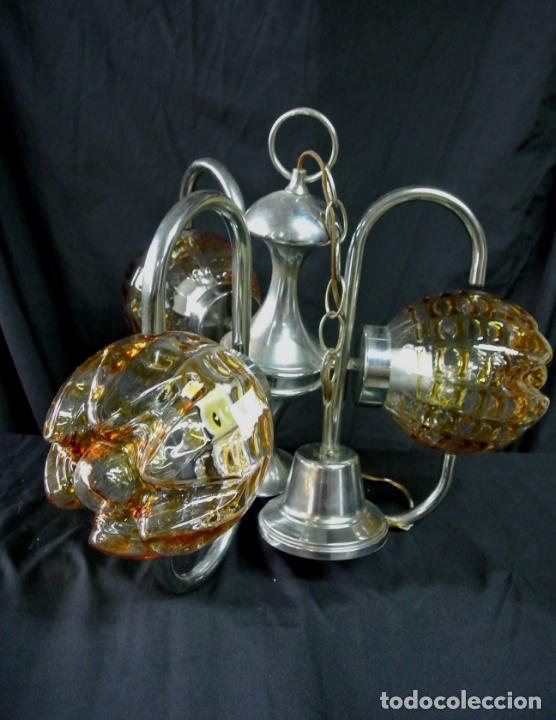 Vintage: Lampara. Space. Acero y cristal murano. Vintage - Foto 12 - 174531579