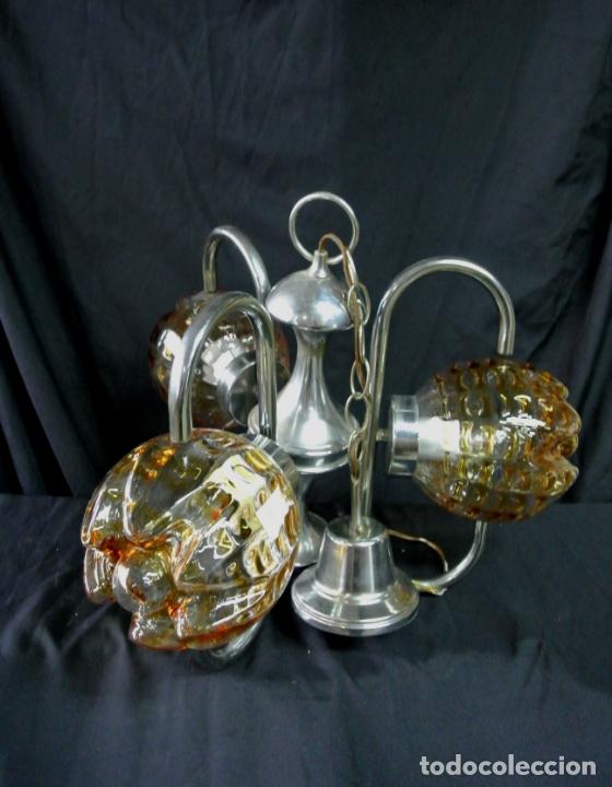 Vintage: Lampara. Space. Acero y cristal murano. Vintage - Foto 13 - 174531579