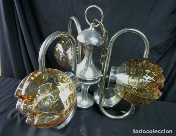 Vintage: Lampara. Space. Acero y cristal murano. Vintage - Foto 14 - 174531579