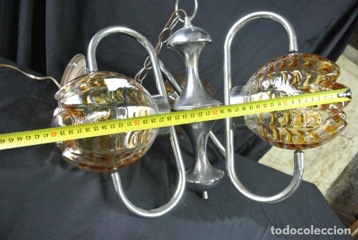Vintage: Lampara. Space. Acero y cristal murano. Vintage - Foto 20 - 174531579