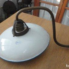 Vintage: ANTIGUA LAMPARA TULIPA METAL ESMALTADO.EGSA.RETRO VINTAGE INDUSTRIAL.BALNEARIO? AÑOS 30.. Lote 175412409