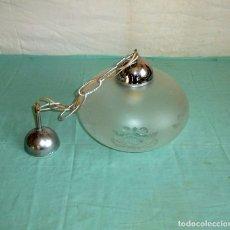 Vintage: LAMPARA DE TECHO CON TULIPA DE CRISTAL GASEADO.. Lote 175638340